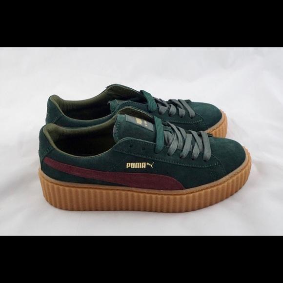 7e4c5ac6bf Rihanna 🎈Fenty Puma Suede Creepers Green 6. M_5a93292250687cfc93e8f586.  Other Shoes ...